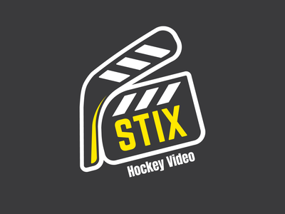 Logo for hockey video production studio sticker logo hockey stick hockey logo hockey