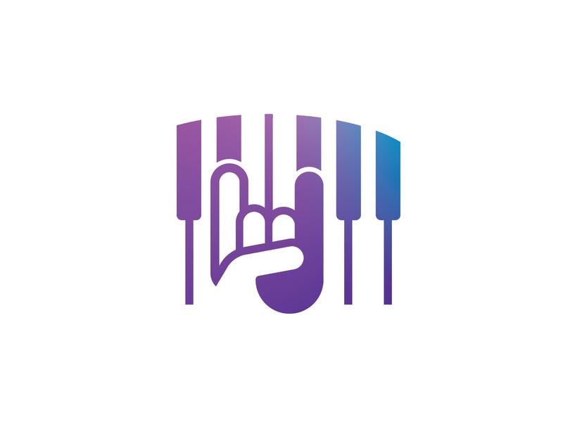 Jamming Logo logotype logo music note rocknroll rock jam piano