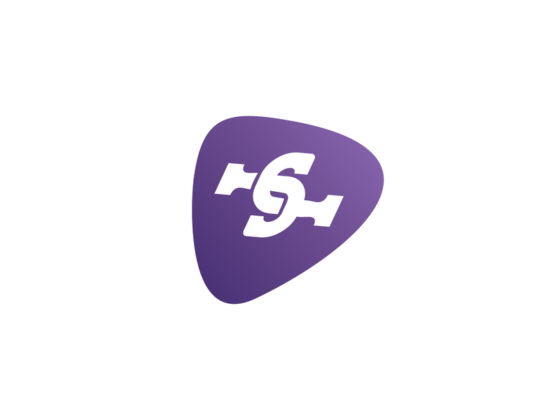 JamJam Music Logo logodesign logotype logo rocknroll guitar music rock lettermark logo lettermark pick plectrum