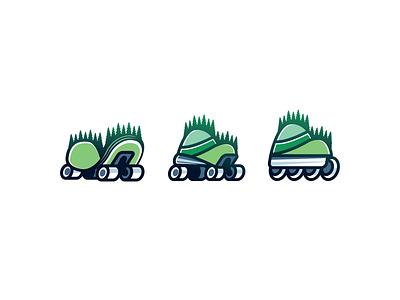 Mountain Valley Skate roller skate mountains hills forest inline skateboard skate illustration logotype logo