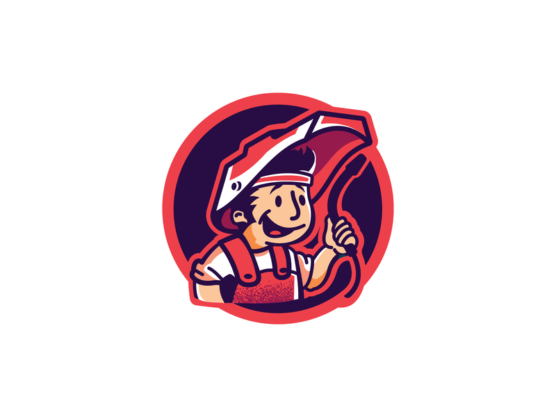 Welder logotype logo cartoonish cartoon industry welder welding