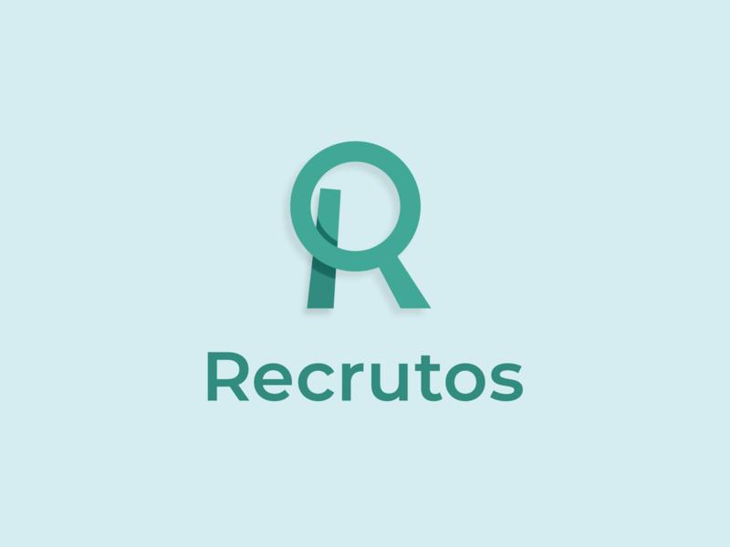 Recrutos — e-recruiting agency recruitment recruitment agency recruiting mark lettermark logotype logo