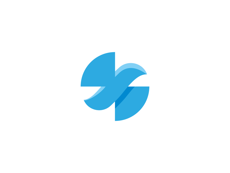 Blue bird logodesign logo bird minimalistic