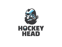 Hockey Head logotype logo mascot character mascot design mascot hockey logo hockey icehockey