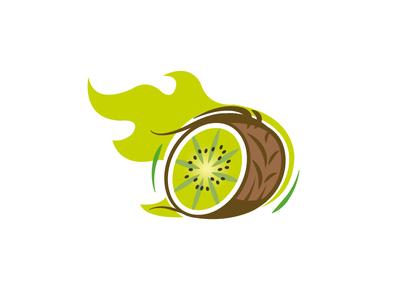Rolling Kiwi racing rally mascot logotype logo