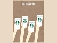 Starbucks - Feliz Cuatro Venti poster