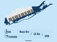 Long Keytarland - gig poster