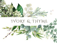 Ivory & Thyme business card