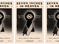 """""""7 Inches in Heaven"""" monthly nite poster"""