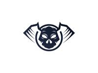 """""""Skullhead logo"""" logo premade"""