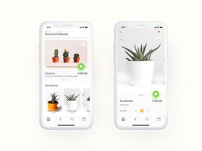 Mobile app aplicación app interfaz movil design ux ui sketch plant