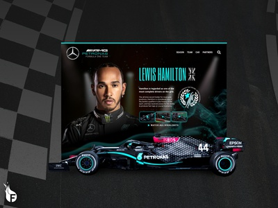 Lewis Hamilton Web Concept website design website web ux london 2020 sports pro mercedes racecar racing formula1 hero banner ux  ui branding ui web design adobe arizona design