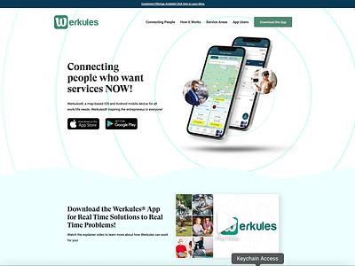 Werkules: The Future of Business Networking wordpress figma sketch design animation lottie website ui ux landing page web design app web
