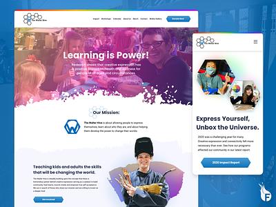 Responsive Website - Walter Hive ux vector logo illustration graphic design rainbow 2021 responsive website nonprofit branding adobe web design ui arizona design web