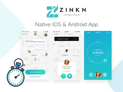 Zinkn People Share android app ios app app design ux ux  ui ui homepage web design illustration design arizona