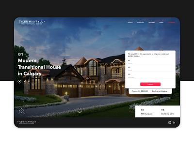 Tyler Hawryluk Architectural Design Website website design website logo typography branding graphic  design design