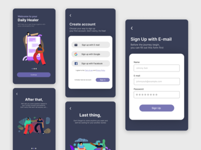 Daily UI 01 - Sign Up figmadesign figma illustration mobile app mobile app android ux ui design