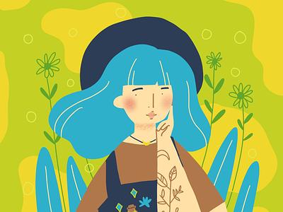#drawthisinyourstyle for @Asayris ykzir procreate digital drawing hashtag instagram fancy girl cute drawing illustration
