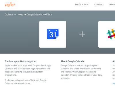 Two App Page explore apps integration zapier