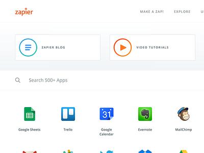 The Zapbook search explore apps integration zapbook zapier