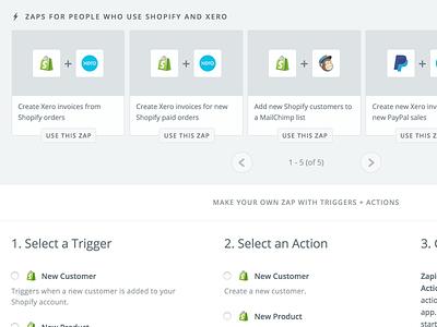 Two App Shared Zaps zap explore apps integration zapbook zapier