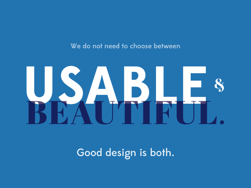 Usable + Beautiful typography exercise skills design challenge