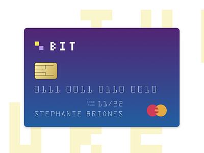 Bit Bank banking credit card bank exercise color logo branding