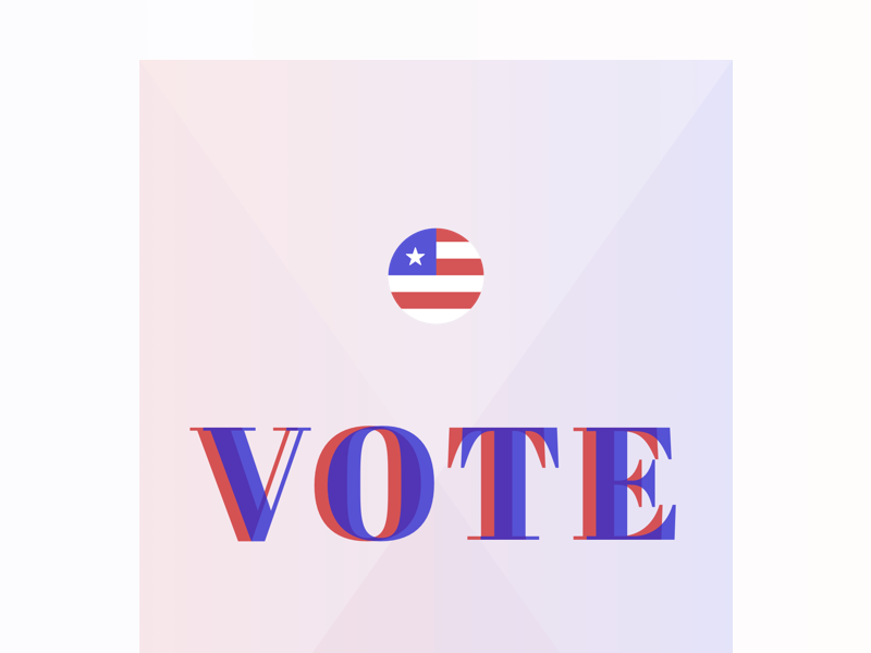 Vote president 2016 election poster vote