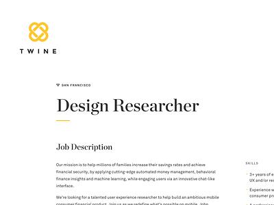 Twine Typography type pairings jobs job posting chronicle akkurat typography twine