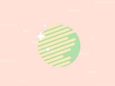 Sparkle Planet sparkle pastel yellow green pink planet