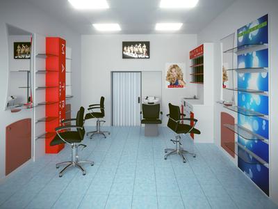 Julia bauty salon interior visualization