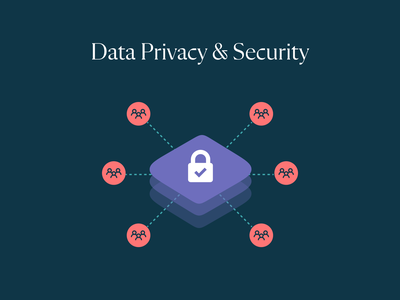 Data Privacy & Security data privacy security hipaa healthcare website vector illustration
