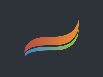 Springboard taste the rainbow earth and fire abstract shape gradient logomark