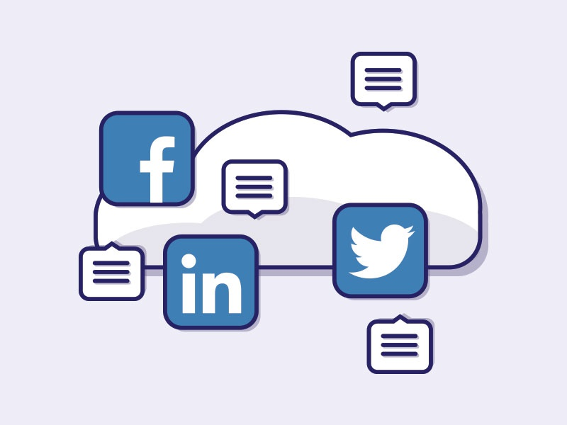 Noise noise illustration icons cloud social media
