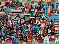 A colorful city