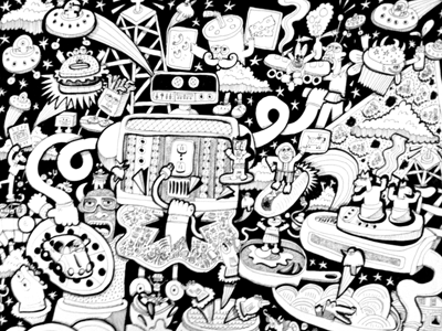 Michael Parenteau / Projects / Psychedelic Coloring Book - Dribbble