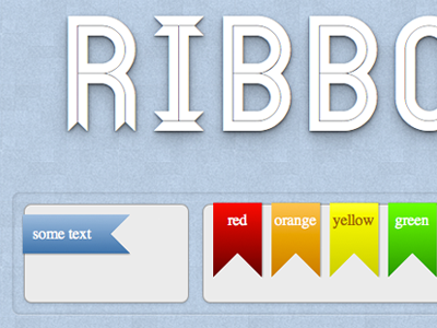 Ribbons Detail compass scss mixins github gist open source love flag ribbon rainbow toy website texture screenshot