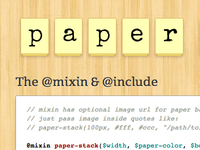 Paper Stack - A Compass/Scss Mixin