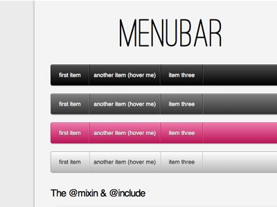 Menubar - A Compass / SCSS Mixin compass scss mixins github gist open source love dropdown menubar toy website ostrich sans heroku
