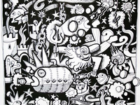 aquariam epic another illustration going in the coloring book - Psychedelic Coloring Book