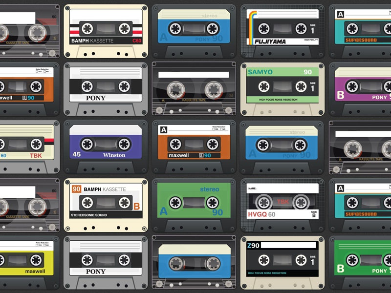 Goodmix.fm wall of cassettes twitter bkg