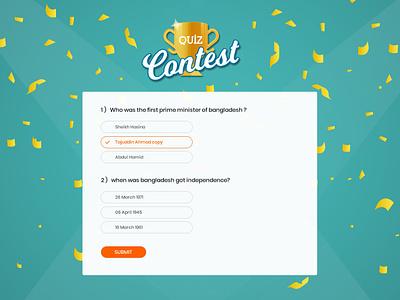 Quiz Contest design illustration ui icon