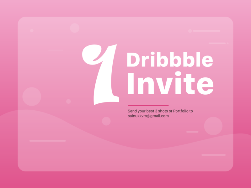 1 Dribbble Invite Giveaway!