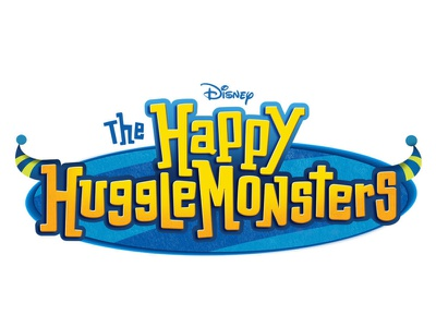 The Happy HuggleMonsters typography disney lettering