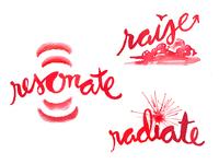 Resonate – Radiate – Raise