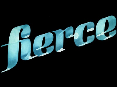 Fierce fierce ink script brush lettering