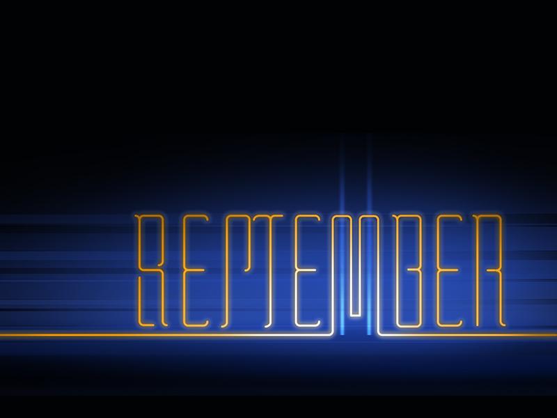Remember. September 11 september 11 lettering ambigram