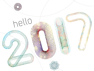 Hello 2017 typography type 2017 lettering spirograph