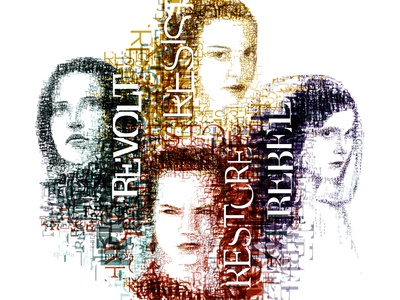 The Force  portrait deconstructivism typography starwarsfanart starwars40years starwars