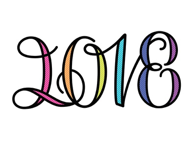 Love 2018 happy new year 2018 lettering ambigram